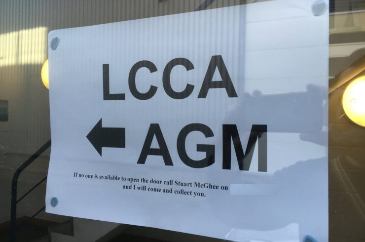 LCCA AGM Agenda and where you can post your race numbers.